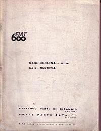 Fiat 600D Body Parts Manual